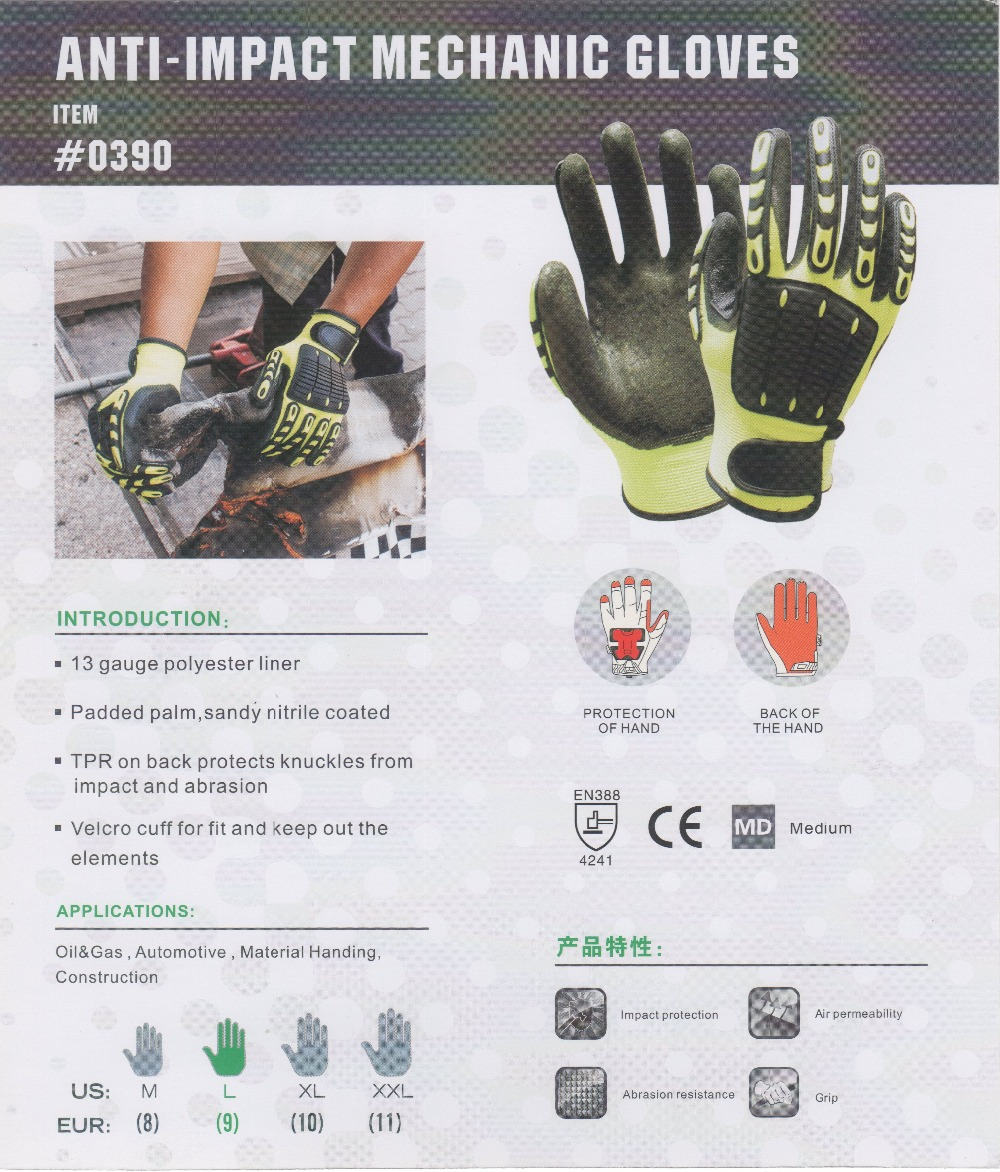 Fingerless impact gloves -  Aliexpress Com Anti Vibration Oil And Gas Safety Glove