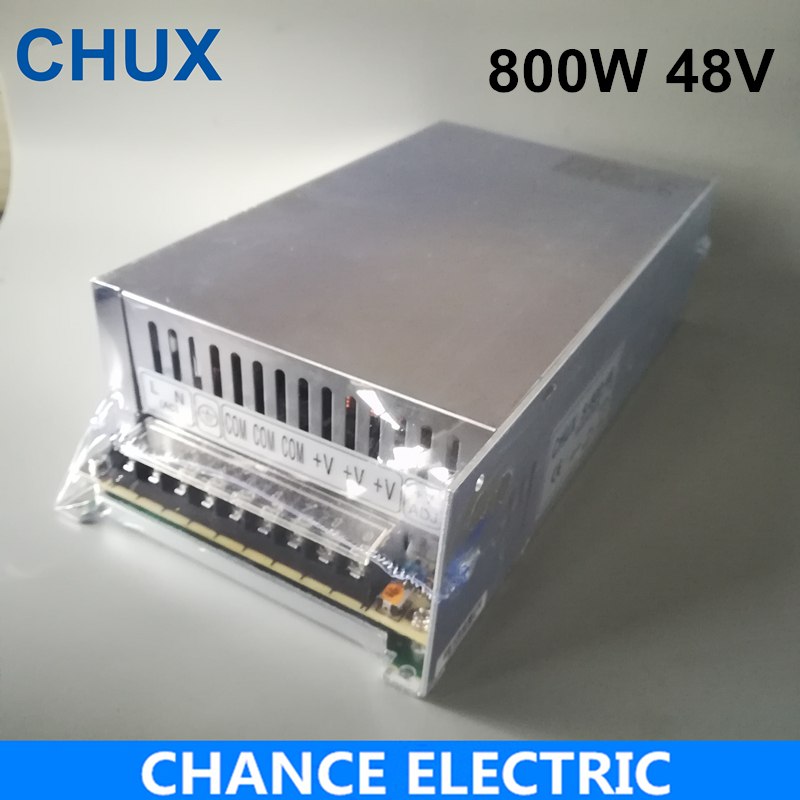High power switching power supply 800W 48V 16.6A switching power supply AC to DC for LED strip ligth ( S-800-48)