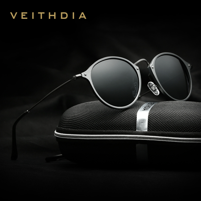 522b1f6302e VEITHDIA Brand Designer Fashion Unisex Sun Glasses Polarized Coating Mirror Sunglasses  Round Male Eyewear For Men