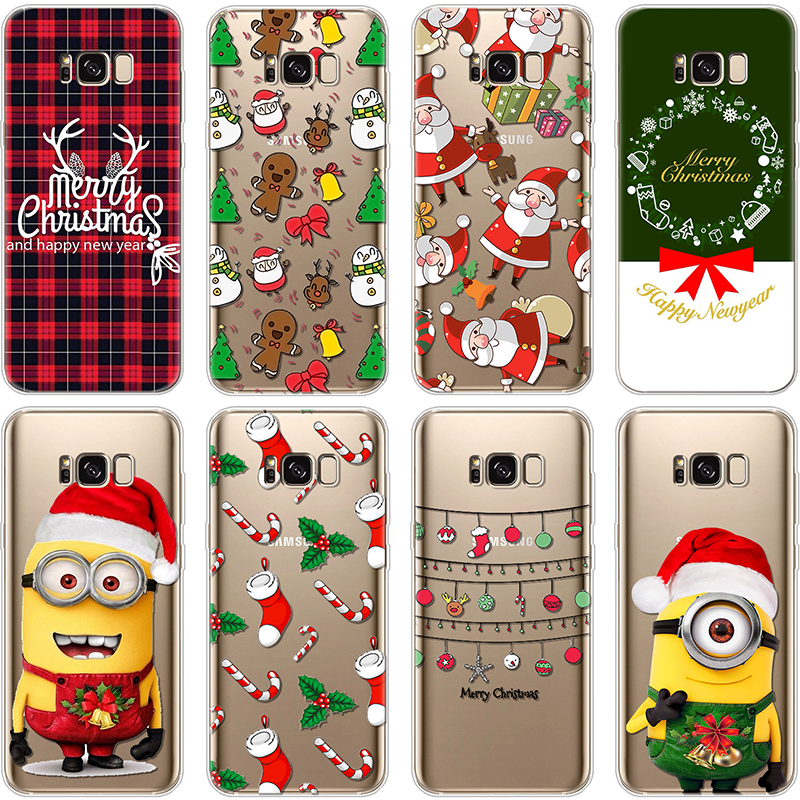 For TPU Christmas Coque Samsung Galaxy A5 2017 J2 J3 J5 J7 Prime S6 S7 Edge S8 Note 8 9 A3 2016 A6 A8 2018 For Samsung S9 Case