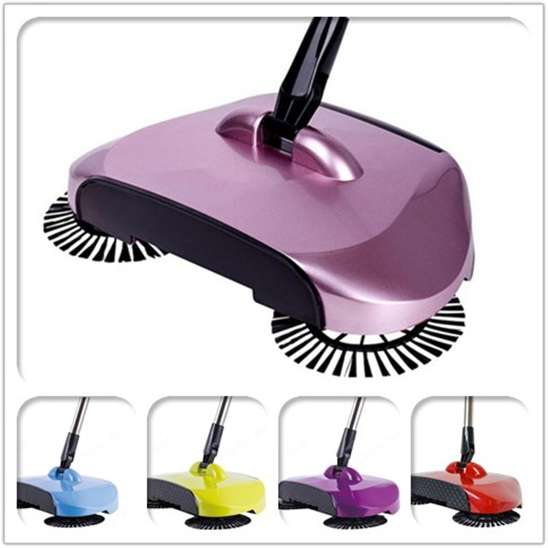 High Quality 2018 Newest Automatic Spin Hand Push Sweeper Broom Dustpan Floor Surface Household Cleaning MopsTool Convenient(China)