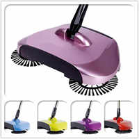 High Quality 2018 Newest Automatic Spin Hand Push Sweeper Broom Dustpan Floor Surface Household Cleaning MopsTool Convenient