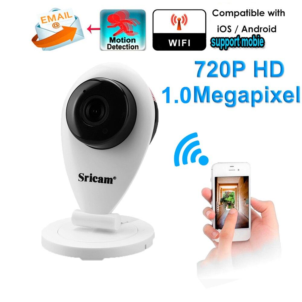 купить Sricam SP009 720P HD Wifi H.264 1.0MP IP Camera Wi-fi Wireless Surveillance Security Camera Infrared Camera CCTV Without IR Cut онлайн