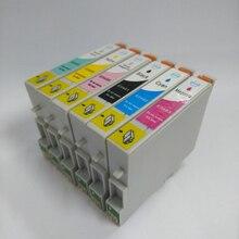 T0481-T0486 картридж для Epson Стилусы фото R200 R220 R300 R300M R320 R340 RX500 RX600 RX620 RX640 принтера
