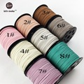 Velet Rope Jewelry Accessories Pacifier Clips Baby Holder Suede Line Leather Cord String Flat Faux 90M 3mm x 1.5mm 4pcs