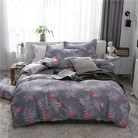 Flamingo 3/4pcs Kid Bed Cover Set Cartoon Duvet Cover Adult Childs Bed Sheets And Pillowcases Comforter cover king Bedding Sets