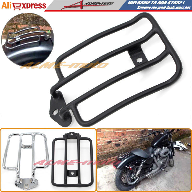 Motorcycle Luggage Rack Support Shelf Fit For Stock Solo Seat Harley Sportster XL883 XL1200 2004-2012 Luggage Carrier Black motorbike black solo seat luggage shelf frame rack for harley sportster xl 883 1200 85 03