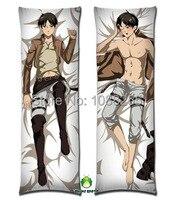 Free Shipping Anime Dakimakura hugging pillow case attack on titan eren jaeger