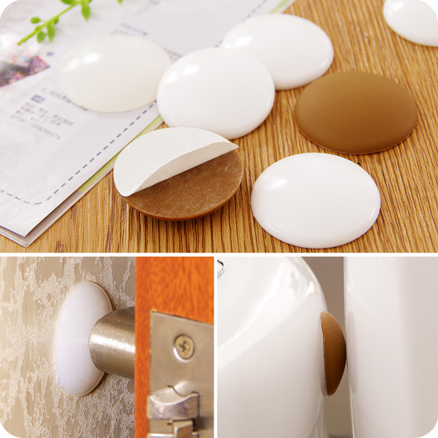 Door Knob Handle Stop Protector Self Adhesive Bumper Guard