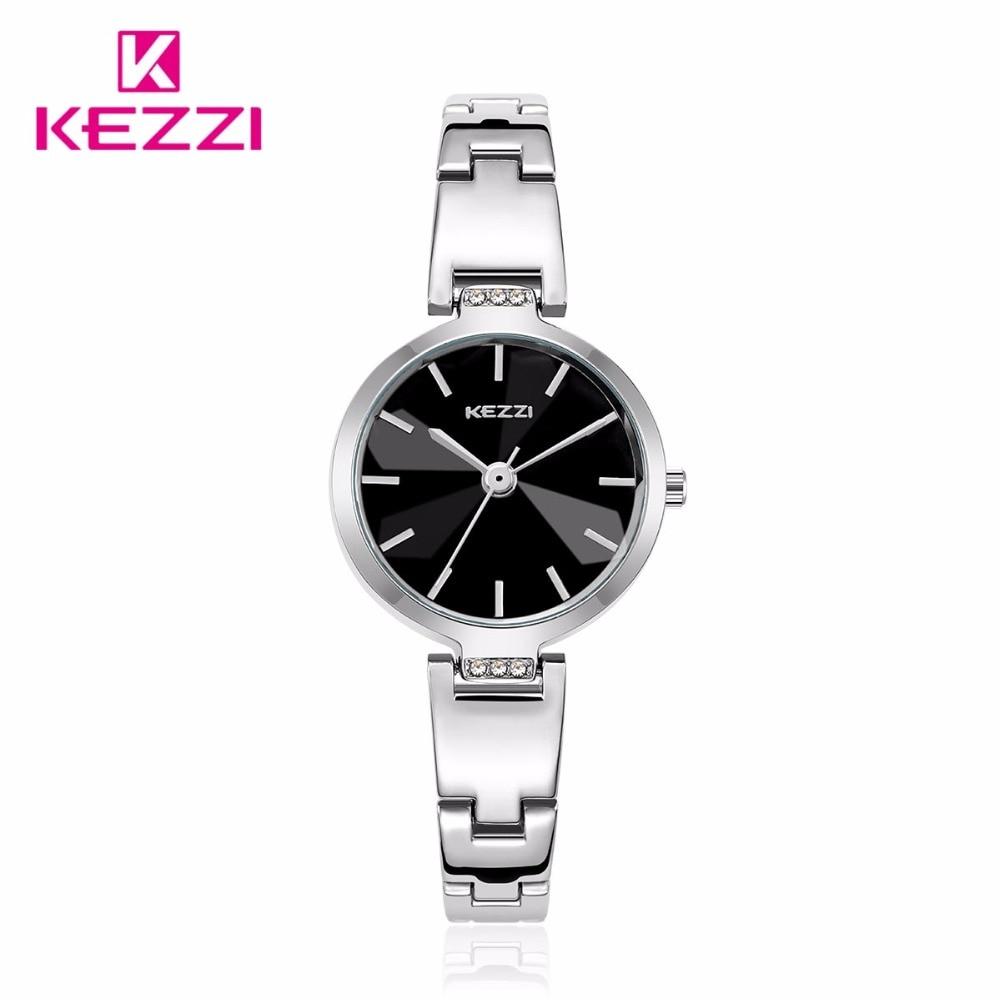 Watche women KEZZI luxury brand Fashion Casual Sports women Quartz gold watch full stainless lady reloj Clock wristwatches k1692 rga r 981 sports watche black