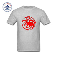 2017 Natural Cotton Game Of Thrones Targaryen Dragon Fire And Blood Funny T Shirt For Men