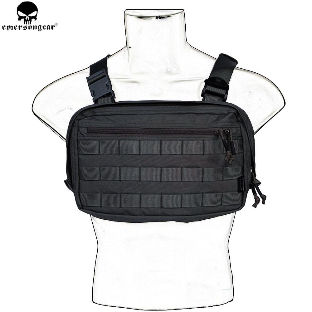 EMERSONGEAR EDC Bag Chest Recon Bag Tool Pouch Combat Tactical Vest Pouch Bag Multicam Black EM9285