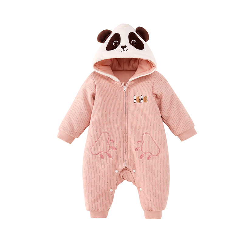 Pureborn Baby Girl Clothes Christmas   Rompers   Cute Panda Newborn Baby Clothes Winter Jumpsuit Coveralls One-piece New year Gift