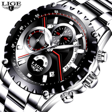 LIGE Men Watch Fashion Sport Quartz Watches Mens Top Brand Luxury Full Steel Business Waterproof Casual Watch Relogio Masculino цена и фото