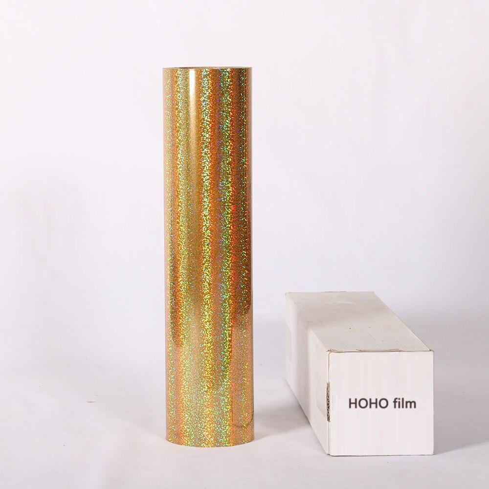 Rouleau de vinyle de transfert de chaleur holographique HTV or 50 cm x 25 m pour T-Shirts 20 pouces x 83.3 pieds