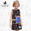 Meninas Vestidos de Verão Do Bebê Meninas Roupa Dos Miúdos Vestidos de monção Limão Impressão Princesa Partido Da Menina Vestido de Algodão Crianças Se Vestem 88