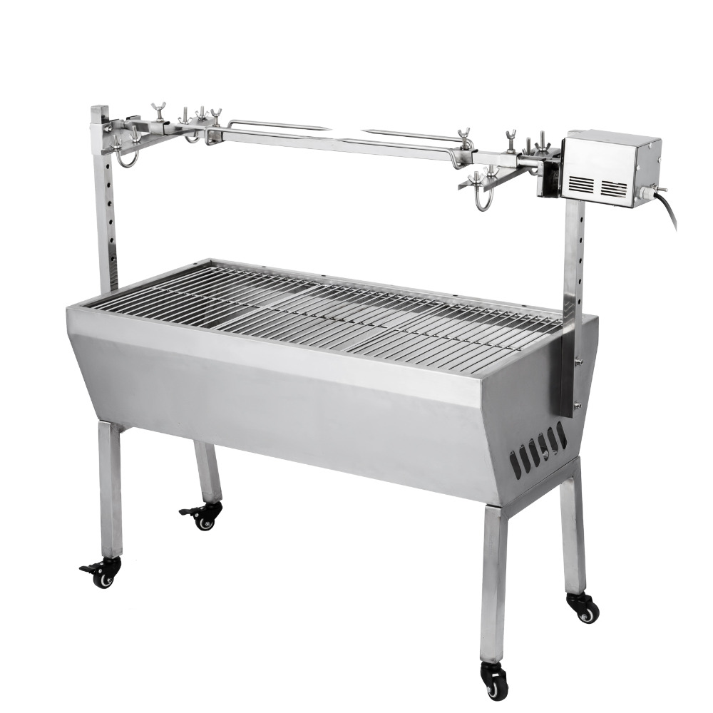 120cm Heavy Duty Stainless Steel Chicken Pig lamb grill machine Charcoal BBQ Spit Roaster with 132LBS 60KG 110v 220v120cm Heavy Duty Stainless Steel Chicken Pig lamb grill machine Charcoal BBQ Spit Roaster with 132LBS 60KG 110v 220v