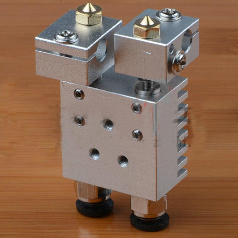 1Pcs Reprap E3DV6 Aluminum Heater Block All-Metal E3D V6 Extruder For HotEnd  For 3D Printer Parts