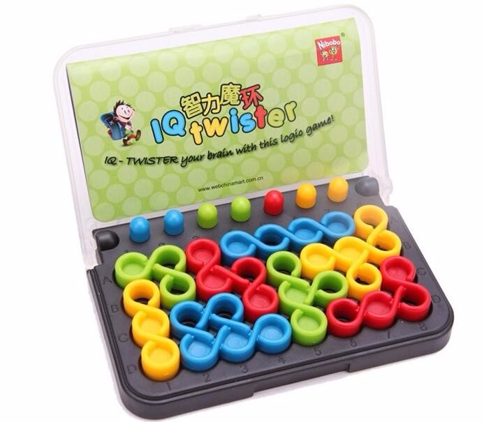 Quality Plastic IQ Logic Puzzle Mind Brain Teaser Beads Tangram Puzzles Game Gift Toys for Children Adults 29