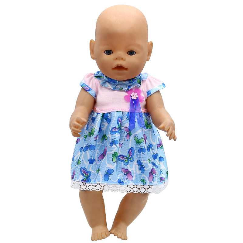 Doll Accessories Baby Born Doll Clothes 6 Colors Cute Princess Skirt Dress Fit 43cm Zapf Baby Born Doll Birthday Gift X-113 baby born doll clothes bat patch skirt dress fit 43cm baby born zapf or 17inch baby born doll accessories high quality love 183