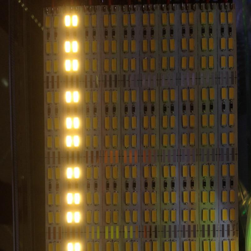 Двойной ряд Светодиодные Жесткая полосы 5630 5730 бар кухня свет белый теплый белый 144 светодиодов/M 12 мм 10 шт. 50 см 72 ledspcb DC12V Samsung Сеул ...