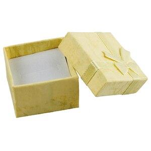 24 шт., подарочные коробки для ювелирных изделий с кольцом и дисплеем, 10 цветов, бумажный квадратный чехол с бантом для переноски, organizador de bijuterias