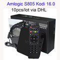 10 pçs/lote Android tv box Android 4.4 Box Amlogic S805 Quad HDMI 2.0 Kodi 16.0 Carregado add-ons WiFi 4 K 1080 P Wi-fi Smart TV CAIXA