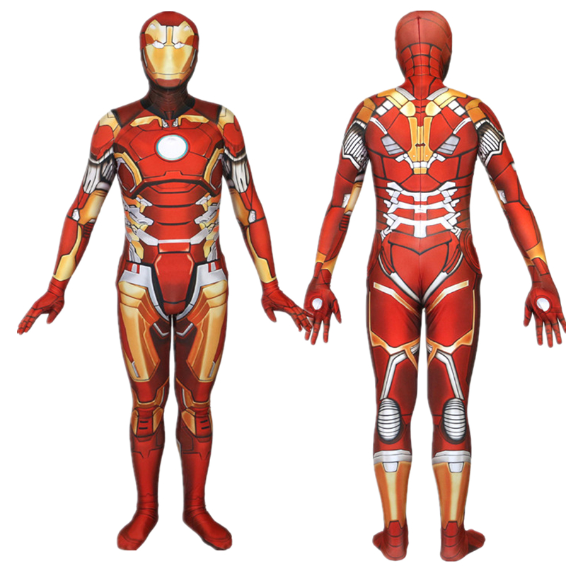 Iron Man Cosplay Costume Zentai Superhero Bodysuit Suit Jumpsuits