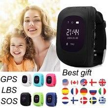 Q50 gps умный ребенок часы наручные часы Q60 SOS вызова Расположение Finder Locator Anti-Потерянный Детские часы для IOS Android