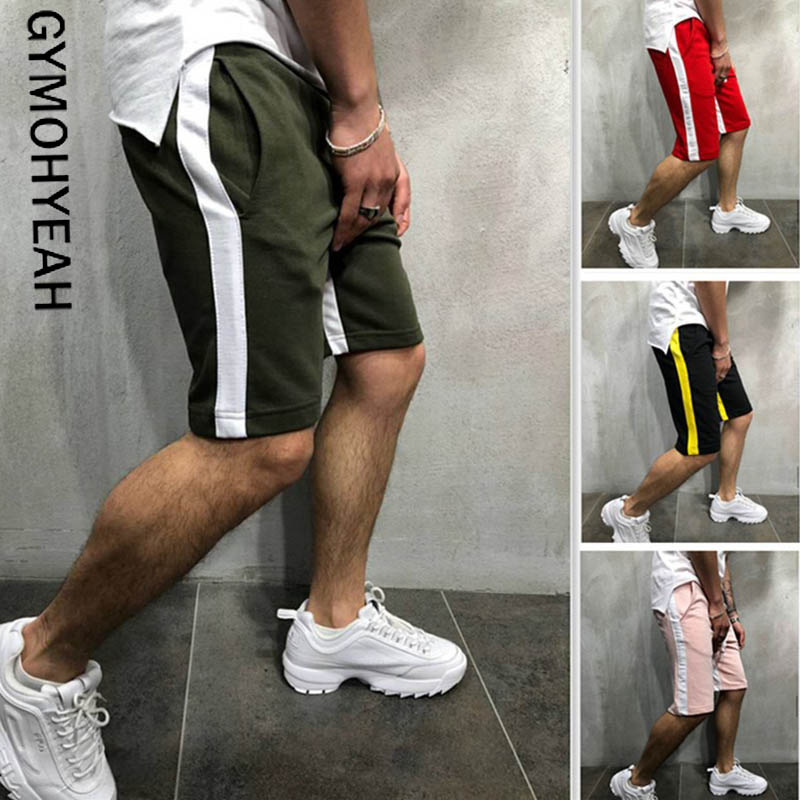 GYMOHYEAH NEW Hot!Summer Casual Shorts Men Trousers Short Fitness Sweatpants Bodybuilding Men Shorts Jogger GYMS Male Clothing