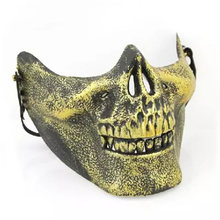 Skull Skeleton Masker Halloween Half Face Pelindung Skull Skeleton Airsoft Paintball Hunting Half Face Lindungi Masker Penjaga HG0166(China)