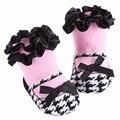 2016 Christening Winter Warm Meias Bebe Newborn Baby Cotton Socks,Ruffled 1st Birthday Socks Baby Knitted Knee Baby Leg Warmers