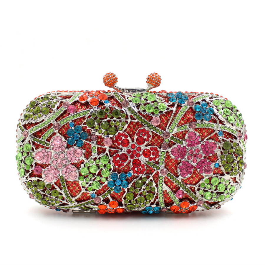 2017 new Sakura flower women day clutches bag ladies single shoulder handbag luxury full diamonds evening bags handbags purses 2017 new colorful diamonds women bag single shoulder handbag luxury ladies evening bags handbags purses female day clutches
