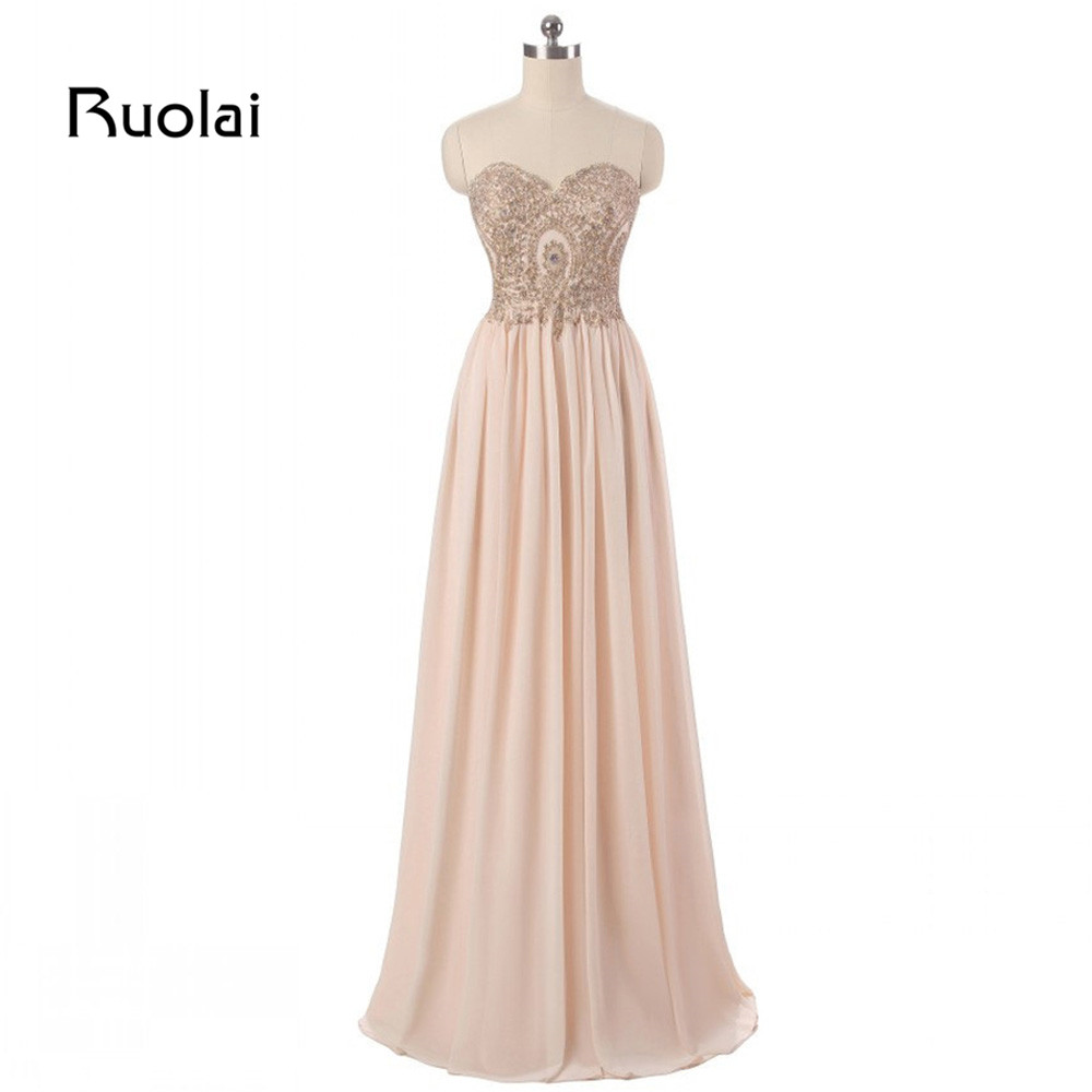 Real Photo   Bridesmaid     Dresses   Long Sweetheart Applique Beaded Chiffon Wedding Guest   Dresses   Maid of Honor Vestido de Festa BM23