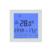 HY03WW 1 LCD Touch Screen Programmable Room Warm Under Floor Digital Thermostat Thermoregulator For Water Floor