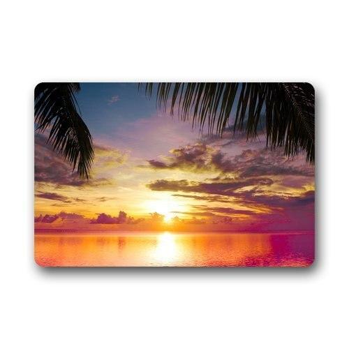 Doormat Personalize Decor Carpets ? Door Mats Beach Sunset Scene Doormats Top Fabric & Rubber Indoor