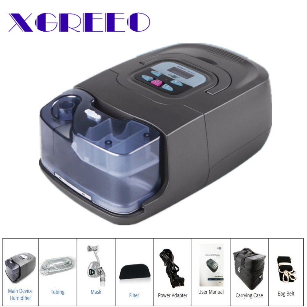 BMC XGREEO GI 25A BPAP Machine CPAP/Auto/S Mode With Nasal Mask For Sleep Apnea And COPD Therapy bmc wnp nasal pillows cpap mask 04 home improvement light cpap machine silicon mask for sleep apnea beauty and health sleep top