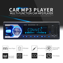 12V 1 DIN In-Dash Bluetooth 7 Color Light Car Stereo FM Radio MP3 Audio Player Hands-free Calls Aux Input SD USB MP3 MMC for Car
