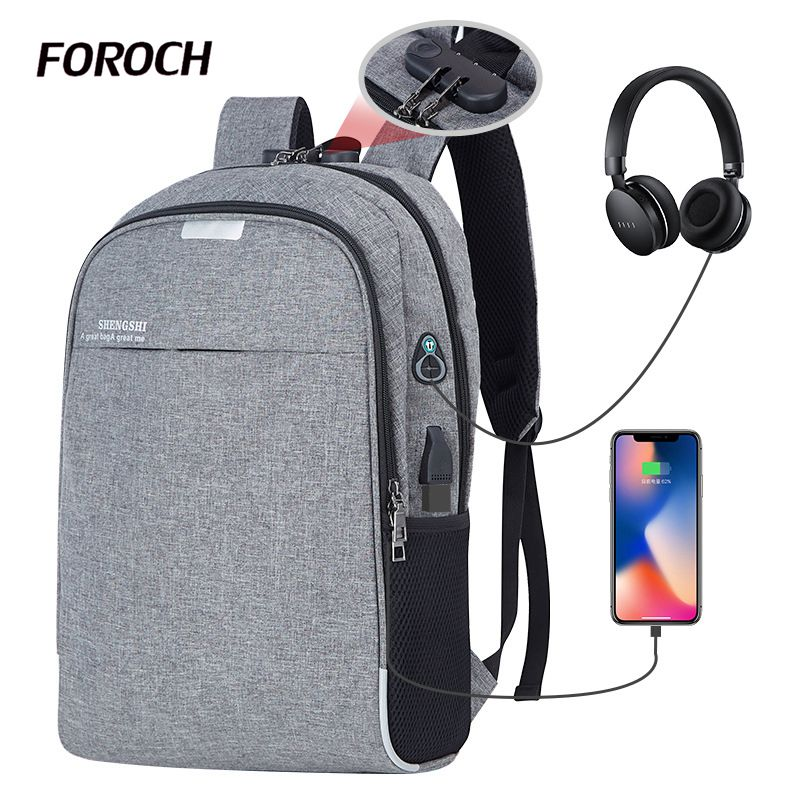 Laptop Backpack Men Usb Charging Computer Backpacks Casual Style Bags Large Bagpack Male Business Travel Bag Sac A Dos Back Pack