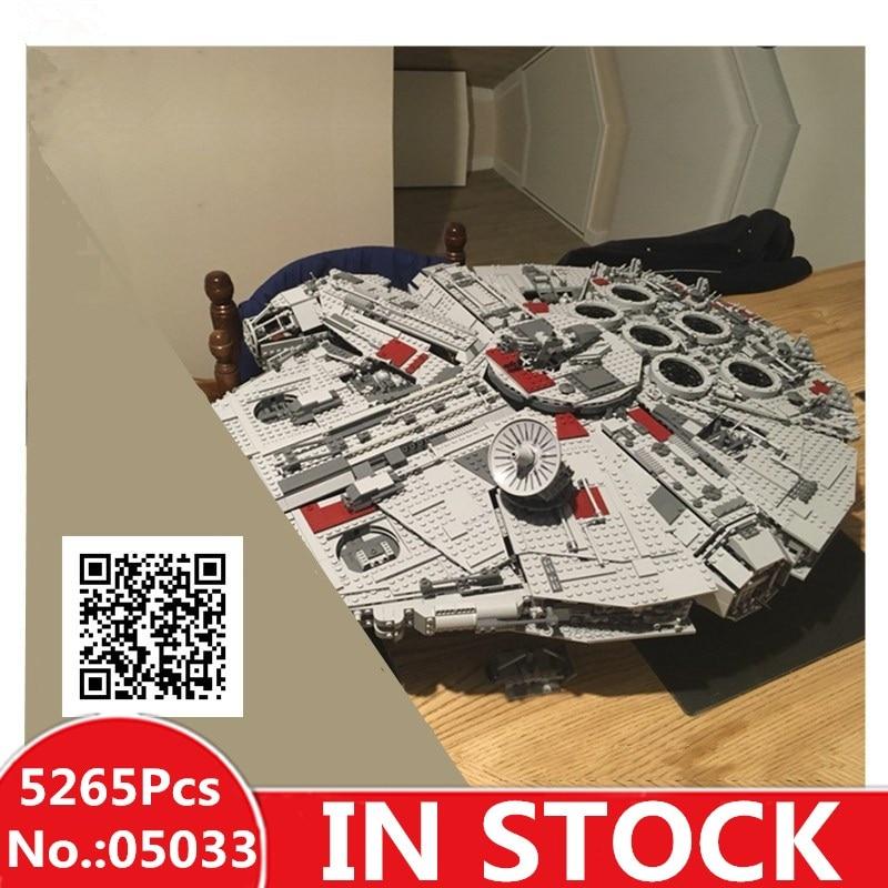 цена на IN STOCK H&HXY 05033 5265Pcs Star Ultimate LEPIN Collector's wars Toy Millennium Model Falcon Building Blocks Bricks Gift 10179