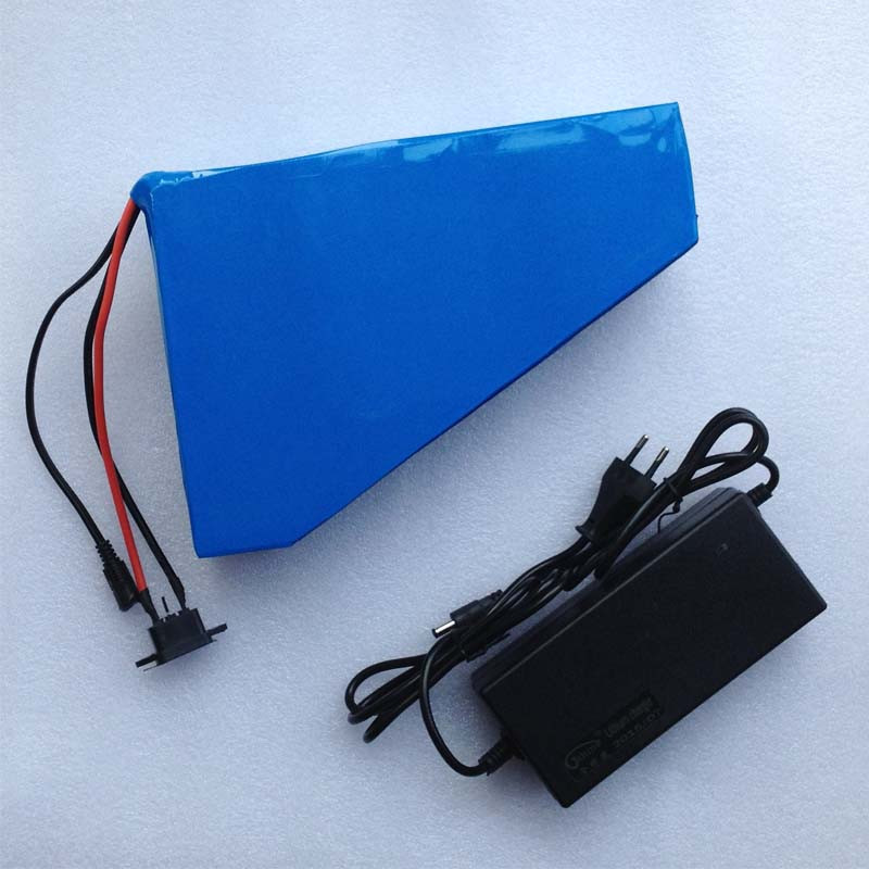 Great 48v 30ah Triangle battery Brand cell electric bike lithium ion 1000w 1500w 2000w motor ebike scooter kit bicycle + charger electric bike battery 48v 30ah 2000w for samusng cell electric bicycle battery triangle lithium ion battery pack with 50a bms