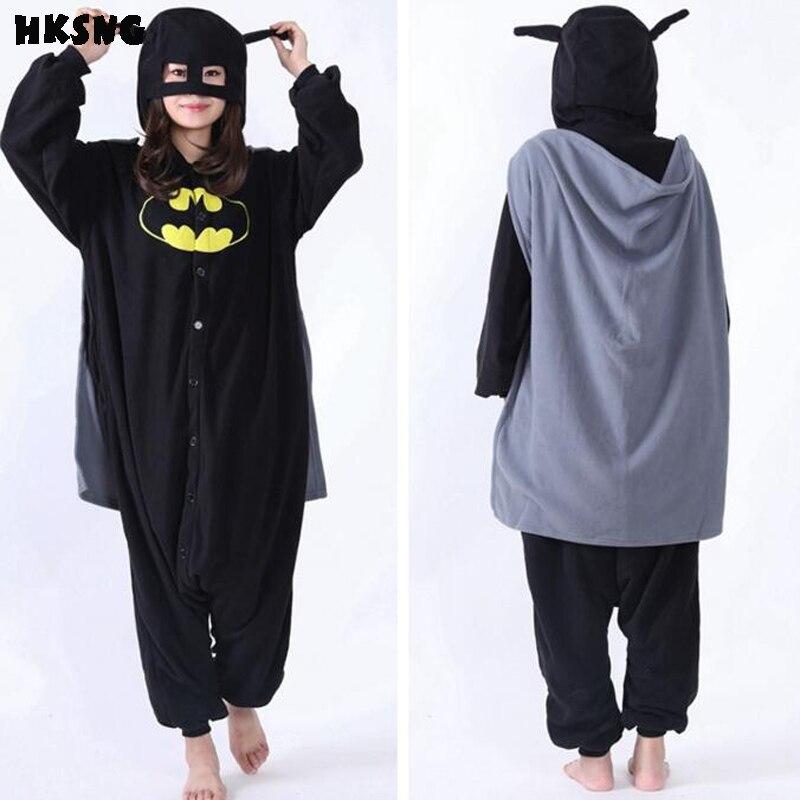 e8919ab6fbc2c6 US $26.59 30% OFF|HKSNG High Quality SA Quality Unisex Adult Winter Batman  Kigurumi Pajamas Onesies Cosplay Costume With Glasses-in Anime Costumes ...