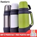 Keelorn vacío frascos termos de acero inoxidable 0.8L 1L tamaño grande al aire libre viajes taza de botella de termo térmico café termos taza
