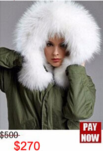 Factory wholesale price Women's Vintage Retro Fur Hooded Military Parka Jacket Coat with pink lined and collar fur mr 22