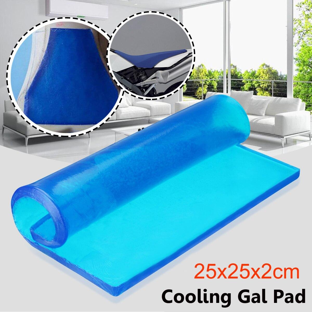 Nouveau bricolage modifié 25x25x2cmépaisseur amortissement Silicone Gel Pad moto siège absorption des chocs tapis coussin tapis confortable