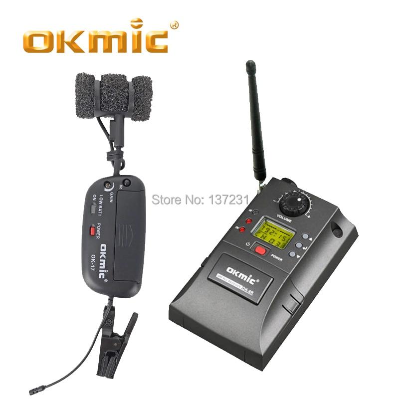 OKMIC OK-8R/ok-17 Professional UHF PLL Instrument Wireless System Microphone For Saxophone Wireless Mic Audio 830MHz-842MHz