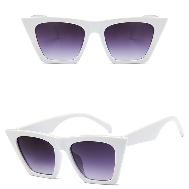 2019 New Female Retro Cat Eye Sunglasses High end Brand Design Fashion Men 39 s Square Glasses UV400 Transparent Sunglasses in Women 39 s Sunglasses from Apparel Accessories