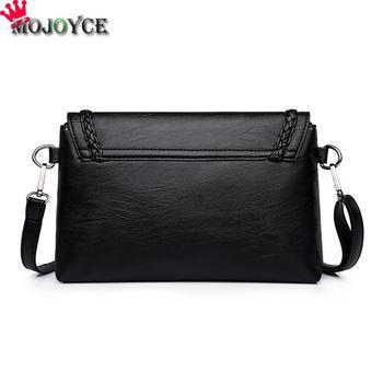 Women Solid Sling Crossbody Handbags PU Leather Ladies Small Shoulder Messenger Bags Female Pure Color Casual Soft PU Handbag 1