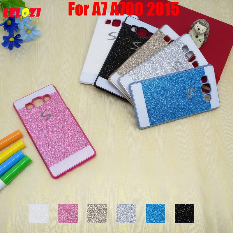 LELOZI Bling Shinning Glitter Hard PC Women Girl Capinha Etui Case Cover Cove For Samsung Galaxy A7 A700 2015 A7000 A700F A7009