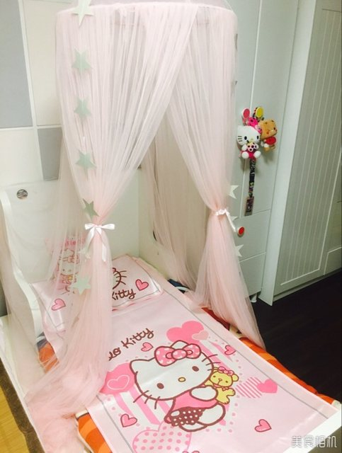 image & Online Shop Round Baby Bed Mosquito Net Dome Hanging Cotton Bed ...